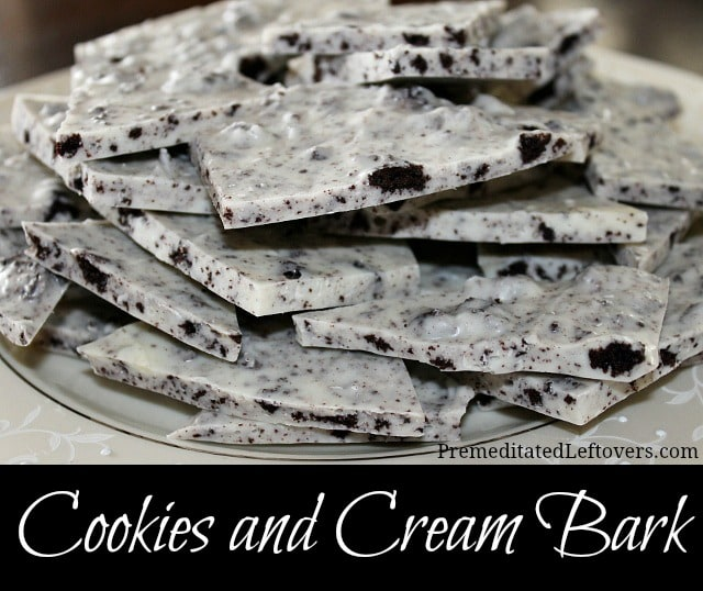 Cookies and Cream Bark - a fast and easy candy recipe
