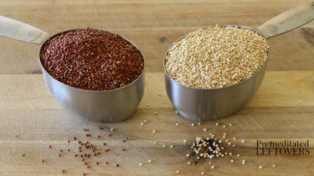 Different types of quinoa