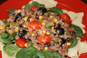 Fast and Easy Taco Salad with Quinoa Recipe