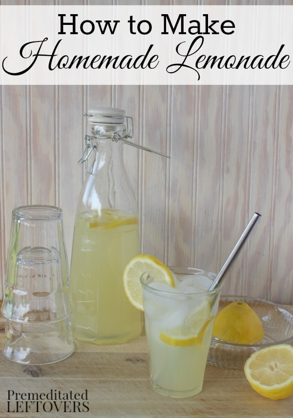 How to Make Lemonade with lemons. This homemade lemonade recipe is the perfect balance of sweet and tart. Tip for making perfect lemonade every time.