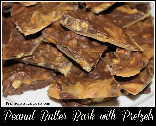 Peanut Butter Bark with Pretzels Recipe  - This quick and easy recipe for Peanut Butter Bark with Pretzels is the perfect blend of sweet, salty, & chocolate!