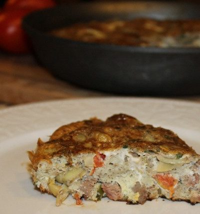 Steak and Artichoke Frittata Recipe