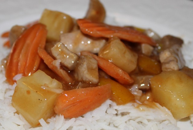 Reduced calorie, low fat sweet and sour pork recipe