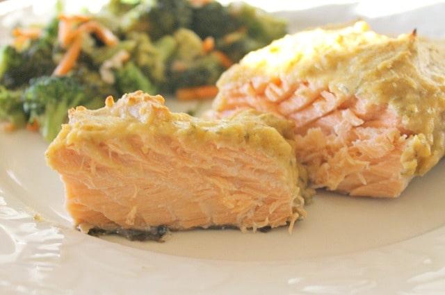 Hummus Crusted Salmon Recipe