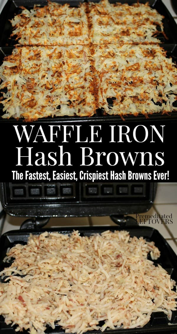 How to make hash browns in a waffle iron - the fastest way to cook hash browns!