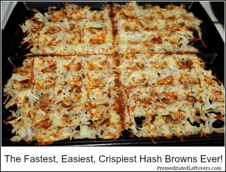 The Fastest, Easiest, Crispiest Hash Browns Ever