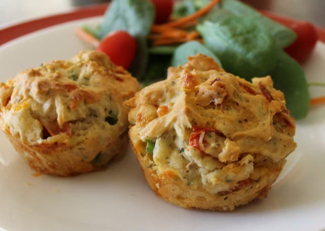 A delicious gluten-free, dairy-free pizza muffin recipe that is perfect for any meal of the day!