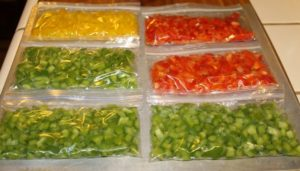 save money on bell peppers by freezing them in bulk