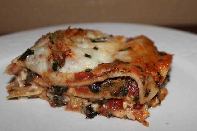 Vegetable Lasagna with Artichokes and spinach