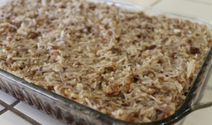 gluten-free, dairy-free German chocolate Cake Recipe with Topping