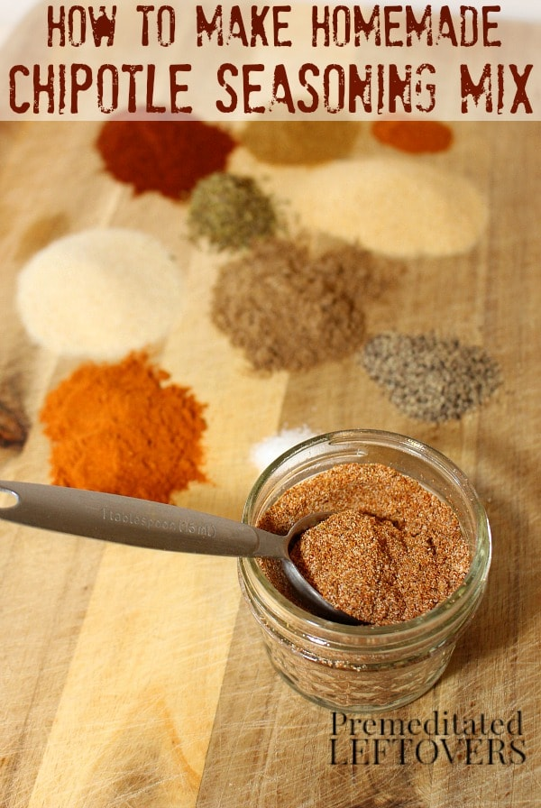 How to Make Chipotle Seasoning Mix - Here's a quick and easy recipe for homemade Chipotle seasoning mix using ground chipotle peppers and spices from your pantry.