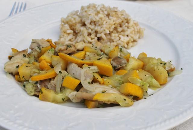 Chicken and summer squash skillet recipe