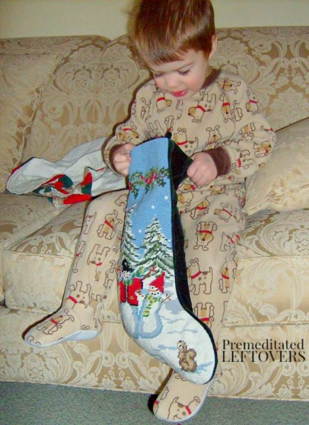 Our Christmas Tradition: Stockings on St. Nicholas Day - We celebrate St. Nicholas Day on December 6th. We read a story about St. Nicholas and our children receive stockings on that day.