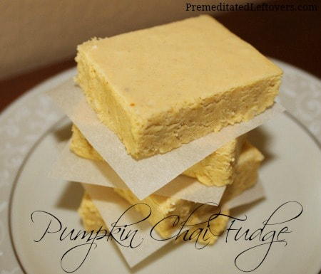 Pumpkin Chai Fudge Recipe