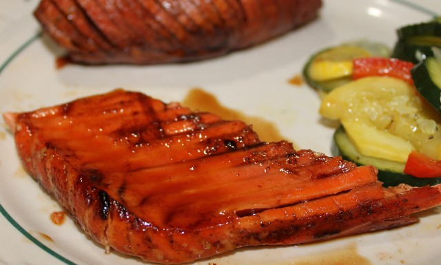 huge salmon steak, I am sharing the recipe for 1 pound of salmon ...