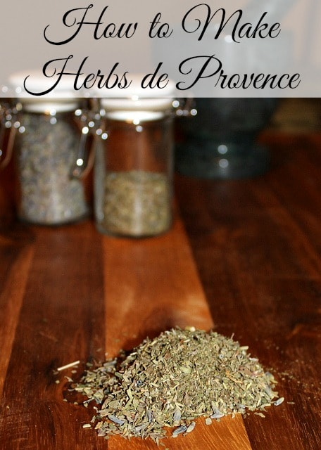 How to Make Herbs de Provence - Easy recipe using pantry staples