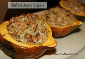 Chicken and Rice Stuffed Acorn Squash