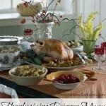 Thanksgiving Dinner Menu Plan