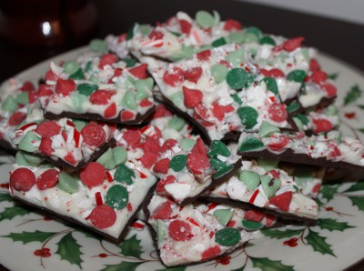 peppermint and mint chip bark