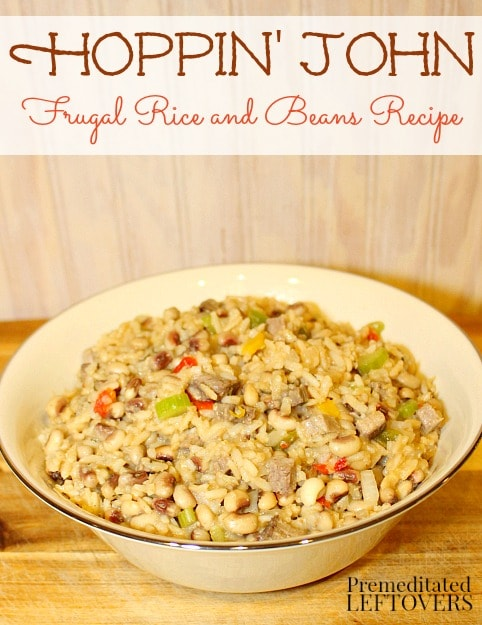 Hoppin' John Recipe - A New Year's Day tradition and a frugal recipe for the rice and beans budget