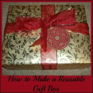 How to Make a Reusable Gift Box with Wrapping Paper