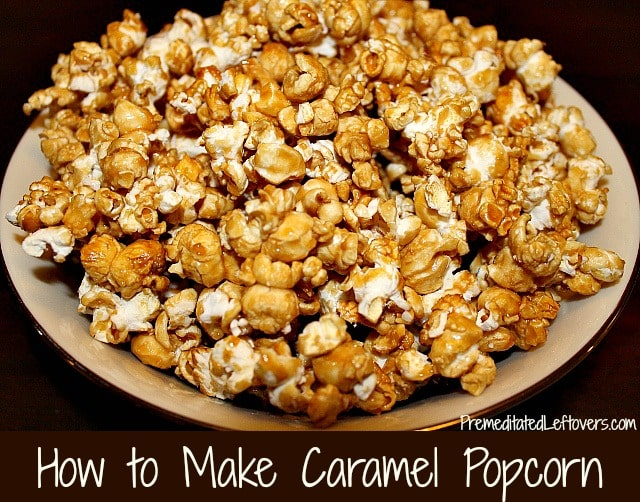 How to make caramel popcorn - easy recipe