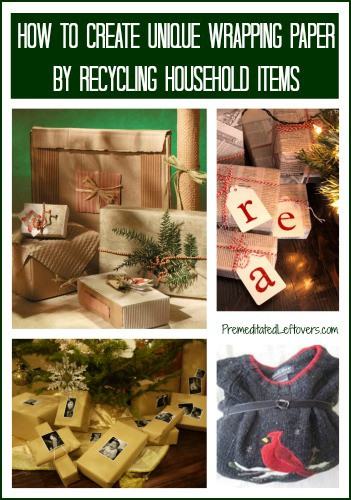 How to make wrapping paper from recycled items