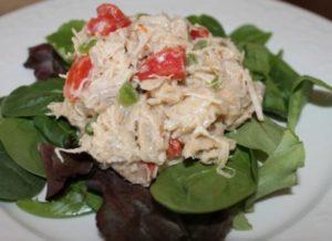 Make Chicken salad with Italian dressing