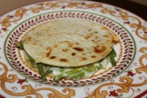 Asparagus Quesadillas