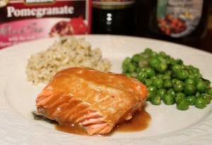 Salmon with Pomegranate Glaze Recipe using Bigelow Pomegranate tea