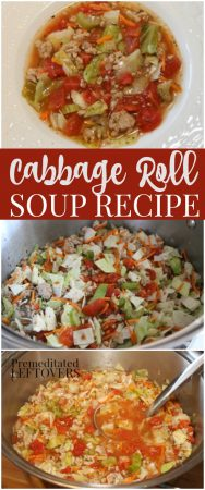 quick and easy cabbage roll soup recipe with ground turkey. All the flavors of traditional cabbage rolls without the work.