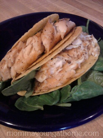 Fish Tacos Recipe - great way to use up leftover fish