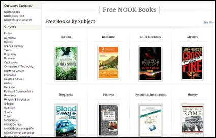 How to Find Free Books on Nook from Barnes and Noble
