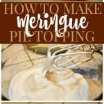 How to Make Meringue Pie Topping