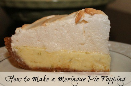 Slice of pie with a tall meringue topping. How to make a meringue pie topping - recipe and tutorial