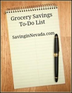 Grocery Saving To-Do List