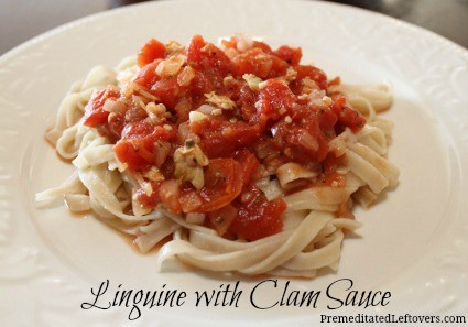 Linguine with Clam Sauce recipe - A Fast Five Meal