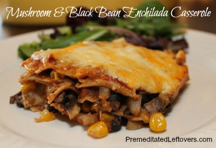 Mushroom and Black Bean Enchilada Casserole Recipe