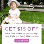 Thredup Coupon 15 dollars off first order