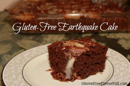 gluten-free earthquake cake recipe