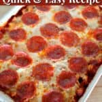 Easy pizza casserole recipe.