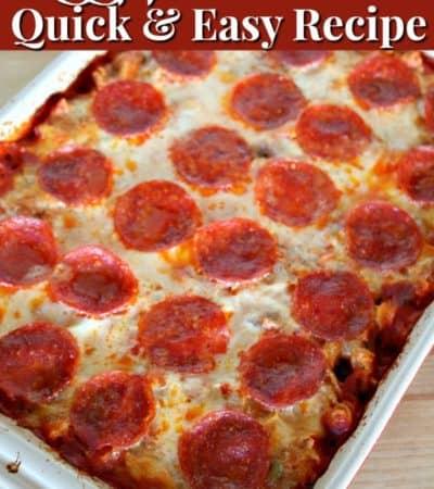 Easy pizza casserole recipe.