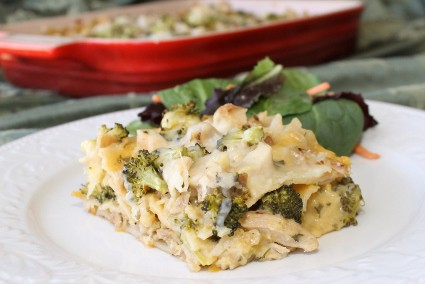 Chicken and Broccoli Alfredo Lasagna Recipe (425x284)
