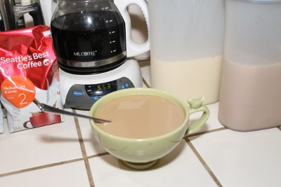 Seattle's Best Coffee with homemade Vanilla Caramel Creamer Yes, Please! (400x267)