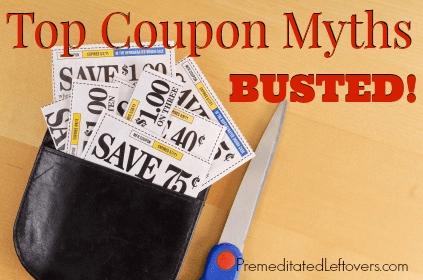 coupon myths