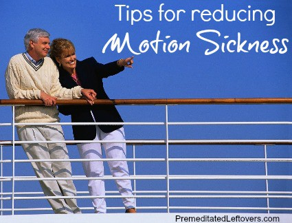 Tips for reducing travel sickness