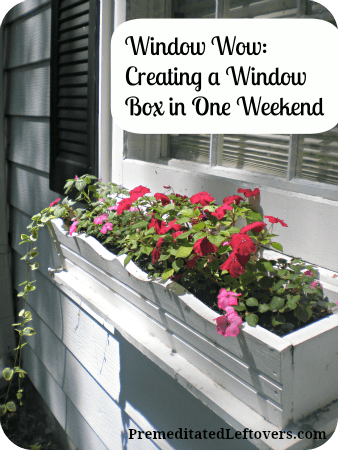 weekend diy how to build a window box in one weekend. Black Bedroom Furniture Sets. Home Design Ideas
