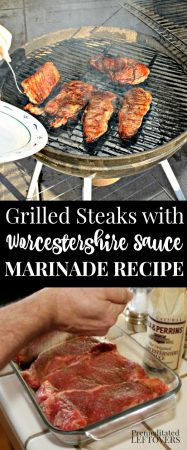 Grilled Steaks with Worcestershire Sauce Marinade Recipe
