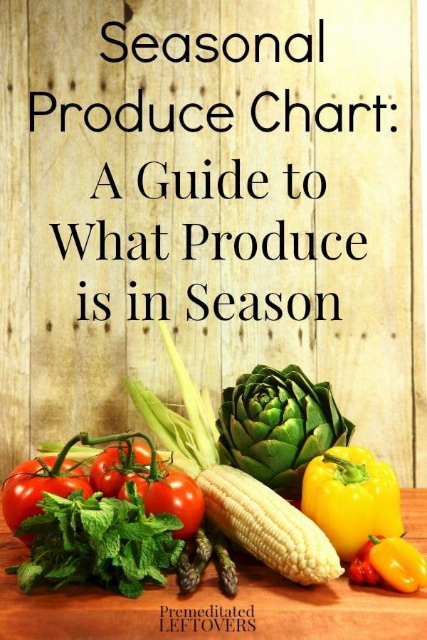 Seasonal produce chart