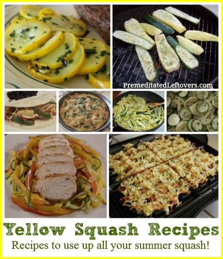 20 Yellow Squash Recipes & Ways to Use Up Summer Squash. Recipes to use up summer squash or yellow straight neck squash, yellow crookneck squash & pattypan.